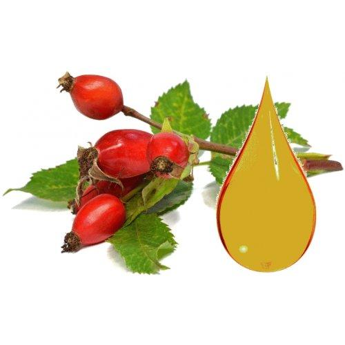 Wildrosenöl, Hagebutte-Kernöl, Bio, nativ, kalt gepresst, rötlich, 100ml