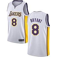 WOLFIRE WF Maglia da Basket per Uomo, NBA, Los Angeles Lakers # 11 Kobe Bryant. T-Shirt per Ricamo, Traspirante e Resistente all'Usura Canotta Jersey