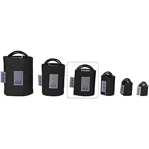 MDF® Adulti - Doppio tubobracciale per la rilevazione della pressione senza latex - Nero (MDF2100450-11)
