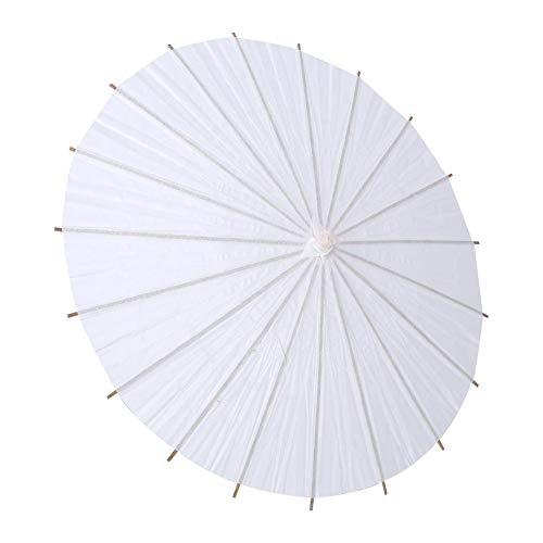 """Zerodis Blanco Naturaleza Papel de la Boda Paraguas Decoración del Partido Nupcial Parasol Paraguas Fotografía Accesorio Arte Pantalla(Dimensión de 20cm / 7.8"""")"""