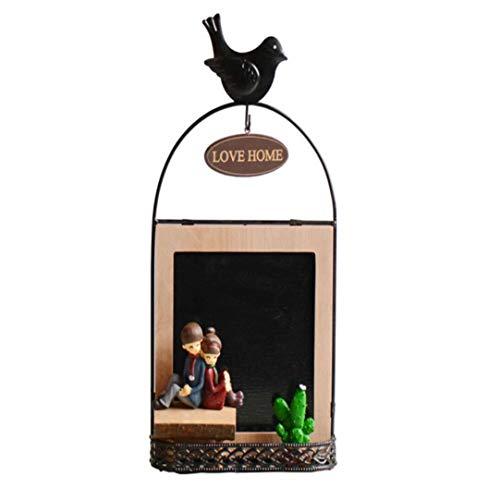 qnmbdgm Retro Cafe Bar Bekleidungsgeschäft Harz Holz Dekoration Ornamente Liebe Message Board Eisen Harz Geschenke - Board Keramik-message