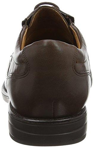 Clarks Hopton Walk, Scarpe Stringate Uomo Marrone (Walnut Leather)