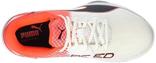 Puma Evospeed Indoor 3.5, Chaussures de Fitness Mixte Adulte Blanc - Weiß (White-Black-Red blast 02)