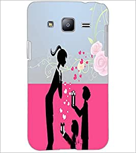 PrintDhaba Love D-4985 Back Case Cover for SAMSUNG GALAXY J2 (Multi-Coloured)