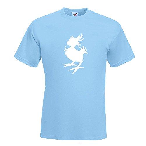 KIWISTAR - Gelber Vogel T-Shirt in 15 verschiedenen Farben - Herren Funshirt bedruckt Design Sprüche Spruch Motive Oberteil Baumwolle Print Größe S M L XL XXL Himmelblau