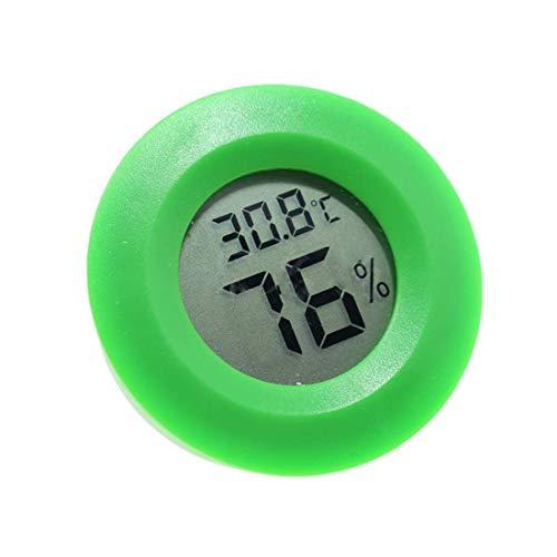 Robluee Digitales Thermometer rund LCD Reptil Thermometer Hygrometer Temperatur Tester für Eidechse Spinne Schildkröte Terrarium Tank Vivarium 1 Stück