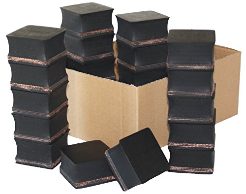 Preisvergleich Produktbild Gummiauflage 58x58x28mm (Karton mit 18 Stück) für Wagenheber und Hebebühnen