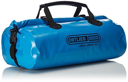 Ortlieb Borsa portapacchi Rack-Pack S, Bianco (White-Black), 24 x 48 x 24 cm Blu (Ocean Blue)