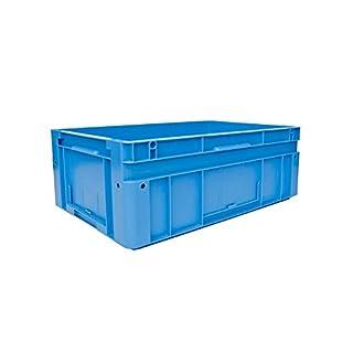 utz Euronorm-Stapelbehälter - Außen-LxBxH 600 x 400 x 220 mm - blau, VE 2 Stk - Box Euronorm Stapelkasten Euronorm Stapelkästen Euronorm-Stapelbehälter Euronorm-Stapelkasten Kiste Lagerkasten Mehrweg-Behälter Stapelkasten Transportkiste aus Kunststoff