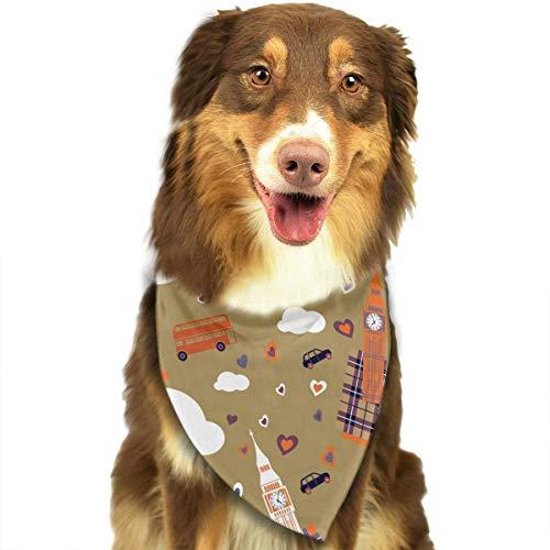 Kostüm British Best Of - Sdltkhy British Element Pet Bandana Washable Reversible Triangle Bibs Scarf - Kerchief for Small/Medium/Large Dogs & Cats