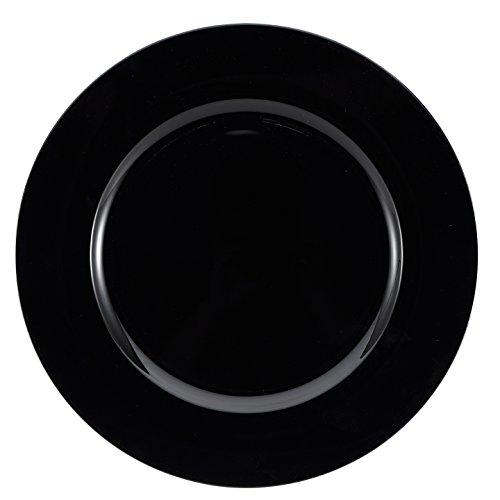 Brunchfill unter Platzteller Deko-Teller-rund, quadratisch, Gold-silber-rot-schwarz Plain Black - Round Charger Plate - 33 - Rot Square Geschirr-set