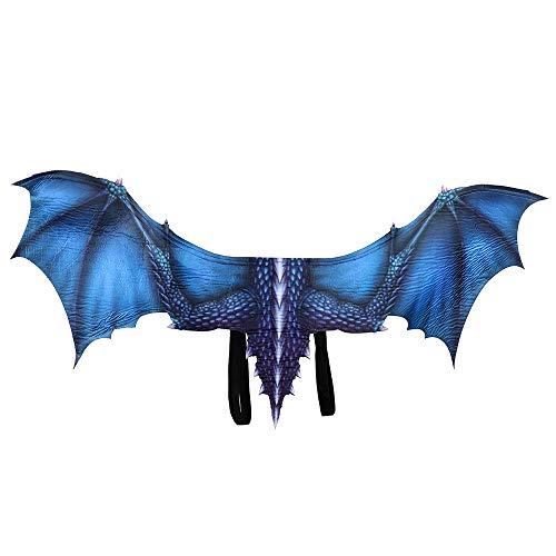 BaronHong Halloween Mardi Gras Dragon Costume Cosplay Alas para Adulto (Azul, M)