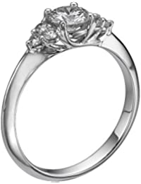 Diamond Engagement Ring in 14K Gold / White - GIA Certified, Round, 0.61 Carat, K Color, VS2 Clarity
