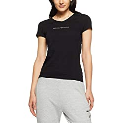 Emporio Armani CC317-163321 T-Shirt, Noir (Nero), Small (Taille Fabricant: S) Femme