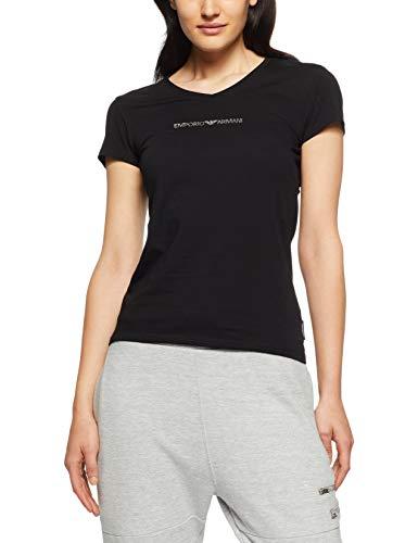 Emporio Armani Underwear Damen  V-Neck T-Shirt 163321CC317, Schwarz (Nero 00020), Small