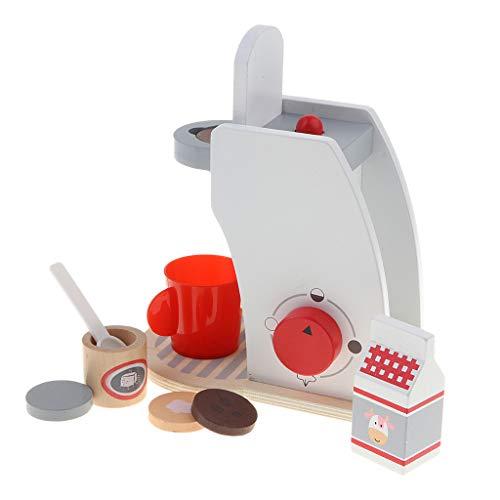 KESOTO Juguete de Utensilio de Cocina Máquina de Pan/Cafetera/Batidora en Miniatura Accesorios de Casa de Muñecas - Cafetera