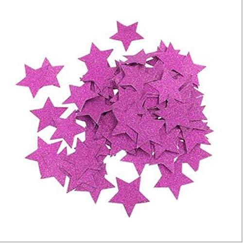 Vazan - 200pcs Sterne Glitter Tabelle Confetti-Geburtstags-Party Hochzeit Dekoration Sparkle Multicolor/Gold / Blau/Rose Papierconfetti Supplies [3 2pc]