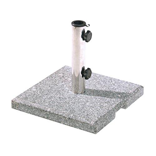greemotion 462270 Schirmständer, eckig, circa 25 kg, quadratisch, 38 x 38 x 6,5 cm, granit