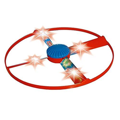 Propellerflugspiel Twin Flash für zwei mit LEDs 17cm Flugspiel Boomerang Propeller Starter Startpistole Rotor