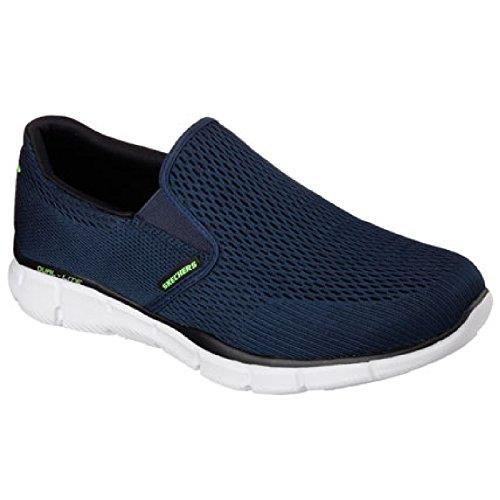Skechers - equalizer double play - scarpe con memory foam - uomo (46 eu) (blu navy)
