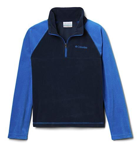 Columbia Fleecepullover mit halbem Reißverschluss für Jungen, Glacial Half Zip, Polyester, Blau (Collegiate Navy/ Super Blue), Gr. M, 1557963 -