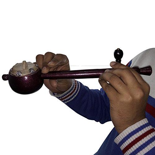 Pure handgefertigt fein handgefertigten indischen Musikinstrumente (bis 8Jahren) Holz Kids Iktara (TUMBI) hergestellt von indischen National Artisan Größe: Ausgezeichnet-h-6.5X l-32X 7-PREMIUM QUALITÄT-(cms)