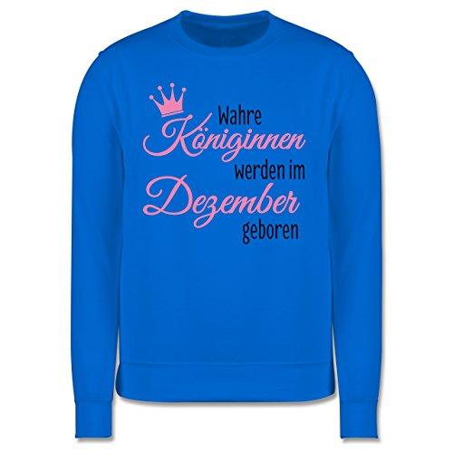 Geburtstag - Wahre Königinnen werden im Dezember geboren - Herren Premium Pullover Himmelblau
