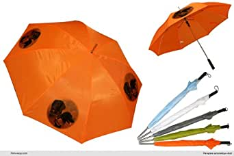 Parapluie Orange Golf chien Flat-Coated-Retriever-02-