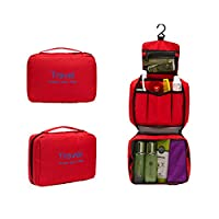 Red Simi Ladies Tidy Travel Cosmetic Bag Make-up Bag Hand Case Bag outdoor travel waterproof daily necessities storage bag travel finishing wash package