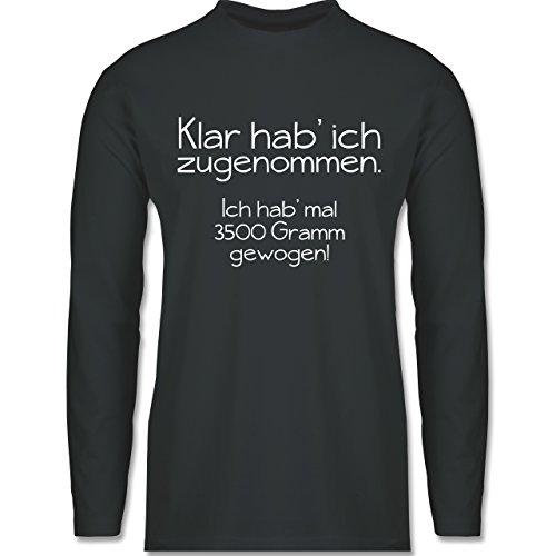 Shirtracer Statement Shirts - Klar HAB' Ich Zugenommen - Herren Langarmshirt Dunkelgrau