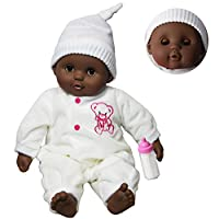 "The Magic Toy Shop 16"" Black Dark Skin Ethnic Newborn Baby African Soft Bodied Doll Sleeping Eyes"