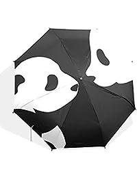 Panda Auto paraguas poliéster Pongee paraguas automático plegable paraguas