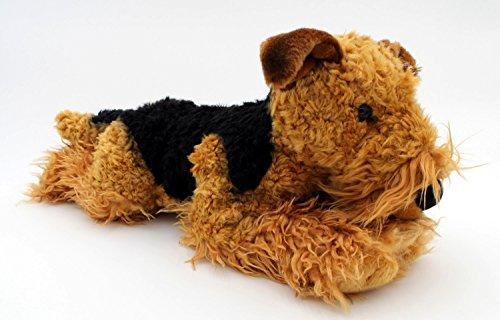 BOBBL Traumhaft schöner Plüsch Fox Terrier - Airdale Terrier ca. 38 cm - Lebensecht Naturgetreu (Fox Terrier Hat)