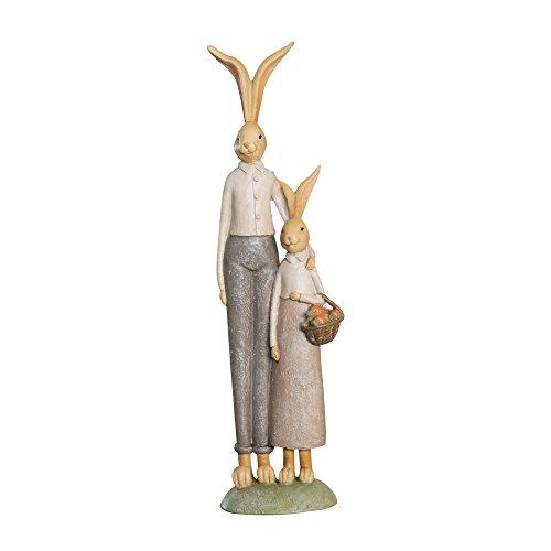 Misslight statuette del coniglietto di pasqua ornamenti in resina decorazione di pasqua del coniglio (style1)