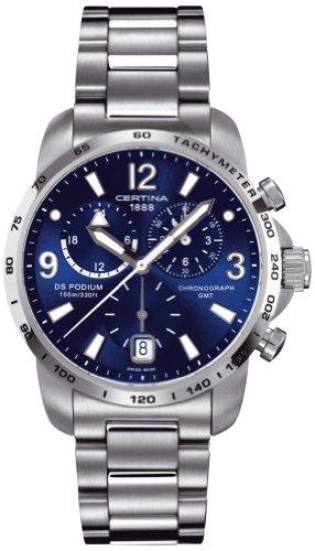 Certina Herren-Armbanduhr XL Chronograph Quarz Edelstahl C001.639.44.047.00