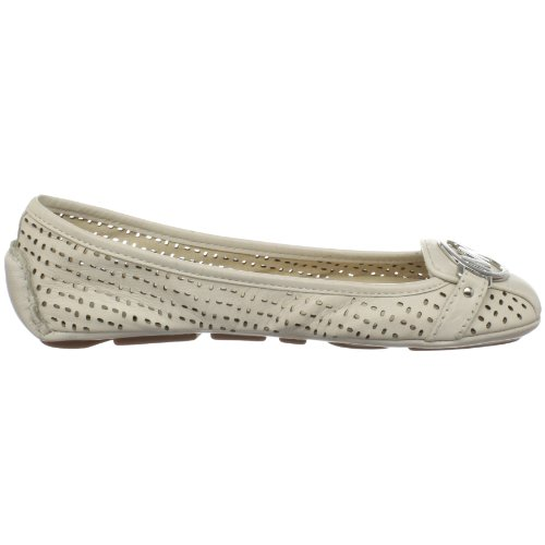 MICHAEL MICHAEL KORS FULTON MOC LEATHER 40T8FUFP2L ballerina in pelle e accessorio in metallo Vanilla