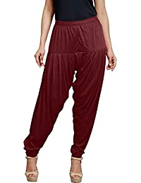 Trigger Women's Viscose Cotton Patiala Pant(Maroon)