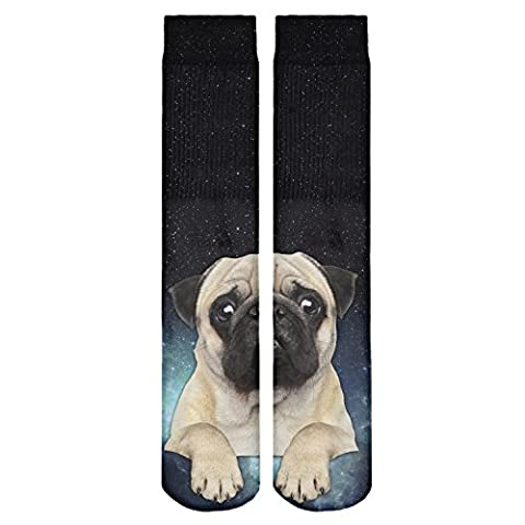 Mens Women's Funny Socks All Over Printed High Hipster Teenager