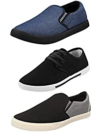 Chevit Men's Synthetic Casual Shoes - Pack of 3