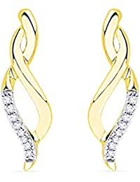 Sri Jagdamba Pearls 18K Yellow Gold and Diamond Hoop Earrings