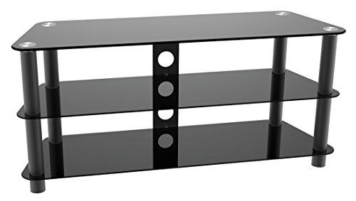 RICOO Fernsehtisch FT502M Universal LCD TV Stand Tisch Regal Rack Curved QLED QE 4K LED OLED Fernsehschrank Podest Sockel Lowboard Kommode Möbel/Zoll 29