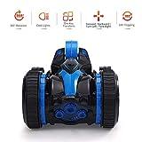 Teepao Voiture Télécommande pour Garçon RC Cars360° Rotatif Electrique Stunt Deformation Voiture pour Garçons et Enfants