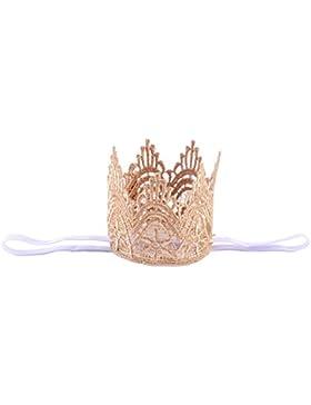 Emitha 1 Paquete recién nacido y bebés arco del pelo de la venda elástico bebé turbante pelo niñas Corona Reina...