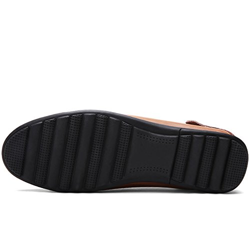 LakeRom , Mocassins pour homme Red Brown13