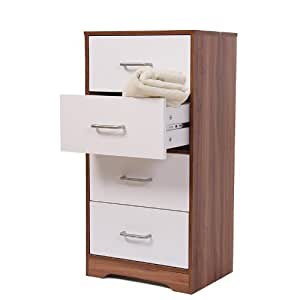 Meuble salle de bains n63 armoire 4 tiroirs 40x30x80cm Amazonpetit meuble cuisine