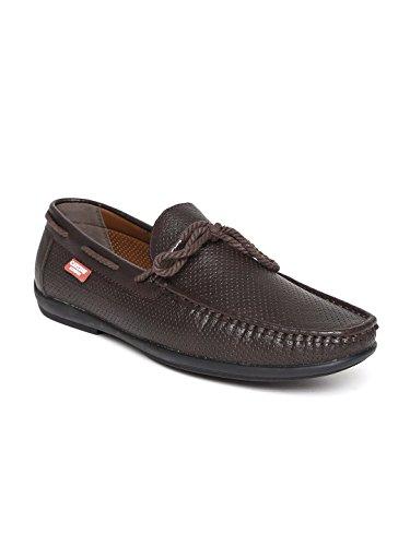 Carlton London Men Coffee Brown Boat Shoes