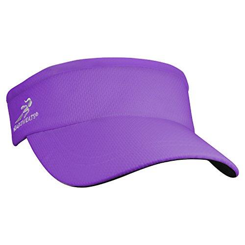 Headsweats Super - Gorra de ciclismo para mujer, color morado, talla T