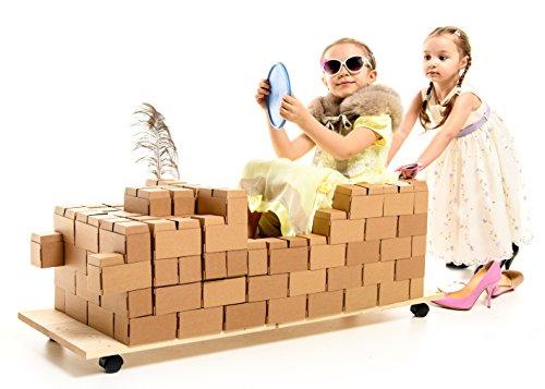 96 grandes bloques de construcción XL con NUEVO sistema de enclavamiento - un regalo increíble para las niñas y los niños, juguete educativo, juguetes ecológicos, de cartón resistente, extra duradero
