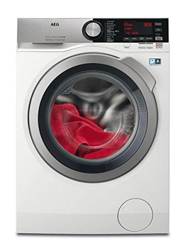 AEG L7WE86605 Waschtrockner Frontlader / Waschmaschine (10 kg) mit Trockner (6 kg) / Mengenautomatik / DualSense - schonende Pflege / Nachlegefunktion / weiß