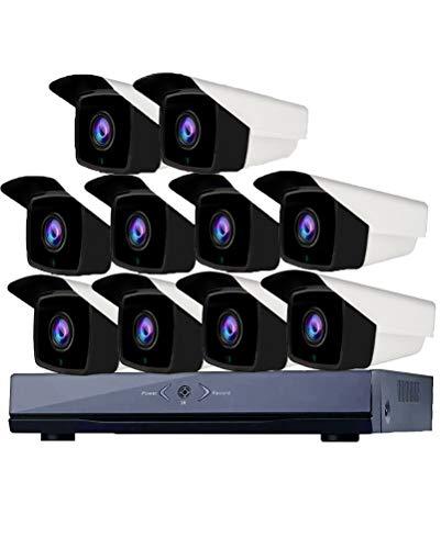 GLXLSBZ POE Überwachungskamera System Set,Sicherheitskamera System POE-Kameras 160ft Nachtsicht Indoor Outdoor Weatherproof,Freie Remote Ansicht,No Hard Drive, 10 Pack - 10-pack Netzwerk-kabel